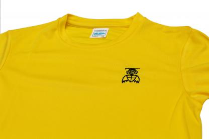 Yellow Top Close Up - William Alvey PE T-Shirt