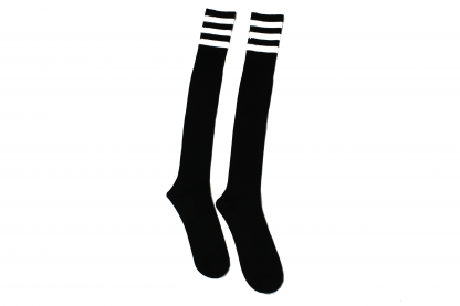 SWRA Football Socks (Black with 3 white stripes)