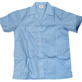 SGA - Short Sleeve blue Girls Blouse